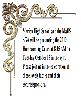 Homecoming Court Info