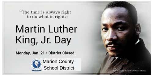 Closed 1/21/2019 for MLK day