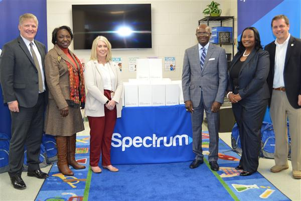 CBSA Students receive donated tablets from Charter Communications